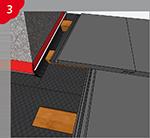 Verklebung  / Abdichtung von Unterspannbahnen im Schornsteinanschlussbereich