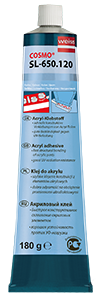 Diffusionsklebstoff für die Verklebung von Acryl-Teilen - Acrylklebstoff COSMO SL-650.120