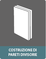 Elementi sandwich per la costruzione di pareti divisorie