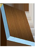 Sandwichelement COSMO Classic - beidseitig HPL dekorfoliert, PUR-Kern