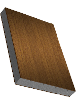 Sandwichelement COSMO Classic - einseitig HPL dekorfoliert, XPS-Kern, Rückseite PVC-Deckschicht
