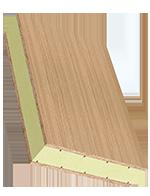 Sandwichelement COSMO Classic - beidseitig Sperrholz, XPS-Kern