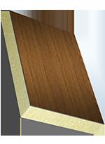 Sandwichelement COSMO Classic - einseitig EPO/HD, PUR-Kern, Rückseite GFK