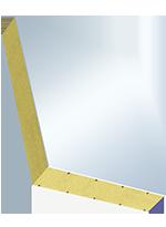 Sandwichelement COSMO Classic - beidseitig PVC, XPS-Kern (WLG035)
