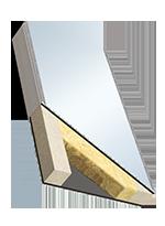 Entrambi i lati ALU, nucleo lana minerale, inserto pellicola pesante