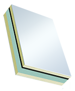 Sandwichelemente COSMO Therm beideitig PVC - beidseitig PVC, XPS/TK-Kern, Schwerfolien-Einlage