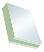 Sandwichelemente COSMO Therm beidseitig PVC - beidseitig PVC, XPS/TK-Kern