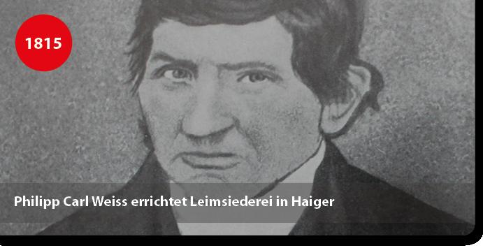 Philipp Carl Weiss, Gründer der Leimfabrik