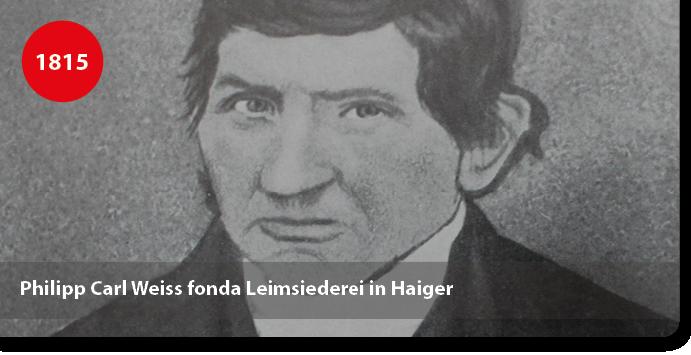 Philipp Carl Weiss fonda Leimsiederei in Haiger