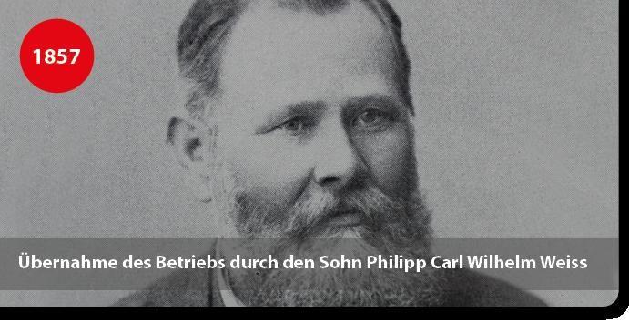 Philipp Carl Wilhelm Weiss übernimmt die Leimfabrik von seinem Vater