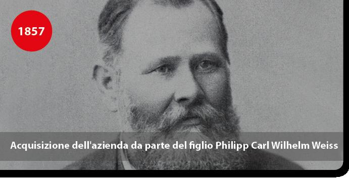 Acquisizione dell'azienda da parte del figlio Philipp Carl Wilhelm Weiss