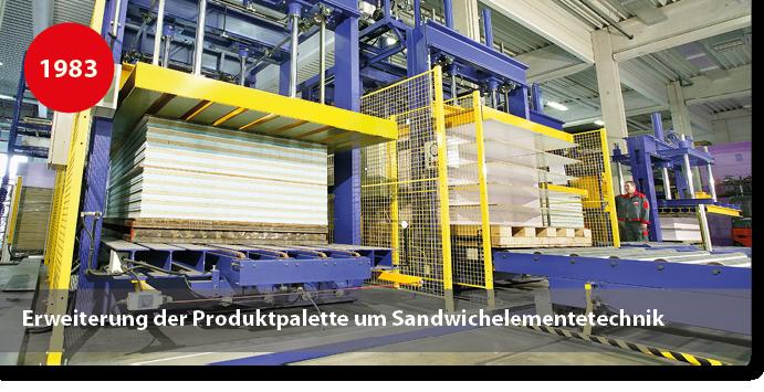 Produktion / Pressen für Sandwichelemnte