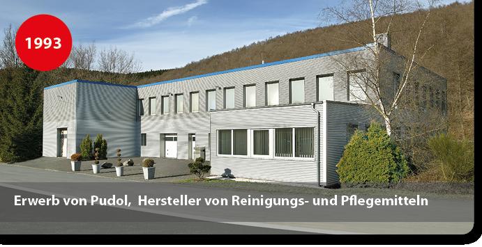 Firmengebäude Pudol, Hersteller von Reinigungsmitteln und Pflegemitteln