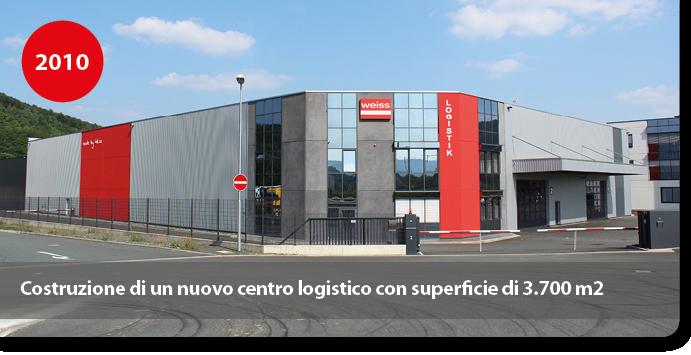 Costruzione di un nuovo centro logistico con superficie di 3.700 m2