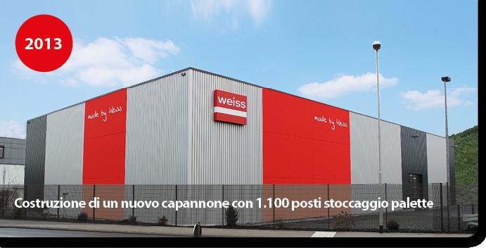 Costruzione di un nuovo capannone con 1.100 posti stoccaggio palette
