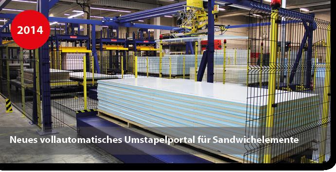 Umstapelportal für Sandwichelemente