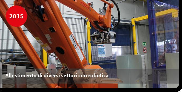 Allestimento di diversi settori con robotica