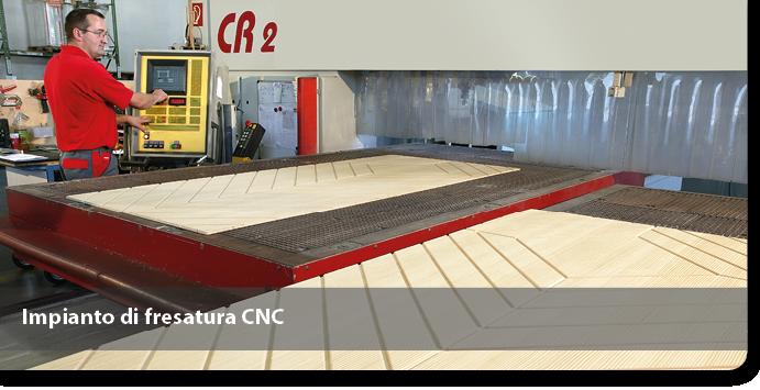Impianto di fresatura CNC