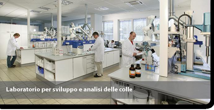 Laboratorio per sviluppo e analisi delle colle