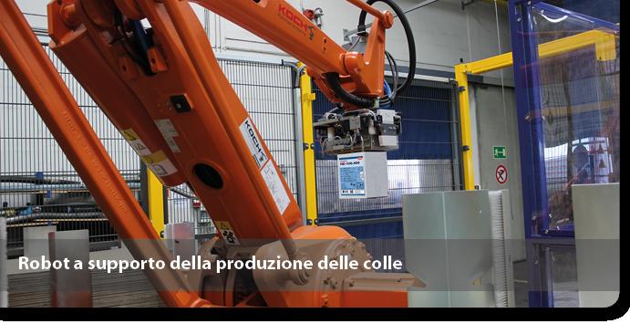 Robot a supporto della produzione delle colle