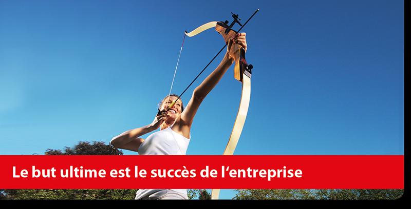 Le but ultime est le succès de l'entreprise