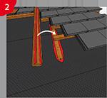 Pâte d'étanchéité fluide pour l'étanchéification des bandes de sous-toiture, des écrans de sous-toiture et des bandes de façade dans la zone des agrafes à clou/l'étanchéification des contre-lattes