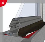 Traitement préliminaire du subjectile pour la pose de bandes couvre-joint auto-adhésives au niveau des embrasures des portes et des fenêtres