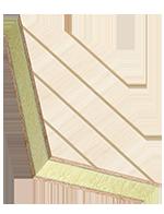 Panneaux sandwich COSMO Design - deux faces contreplaqué