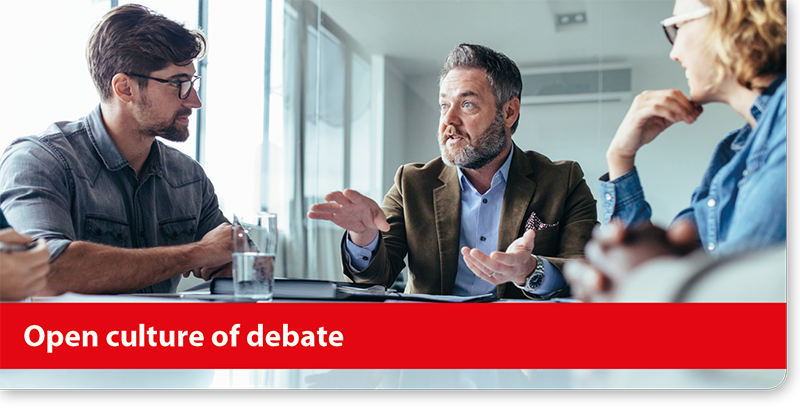 Open culture of debate