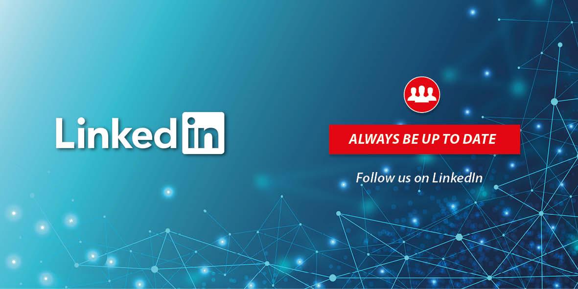 Follow us on LindedIn