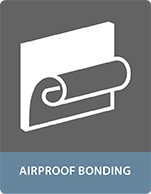 Airproof bonding - sealant