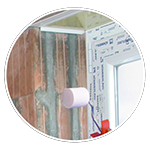 Pre-treatment for self adhesive joint tapes