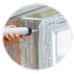 Bonding of joint tapes on window and door jambs