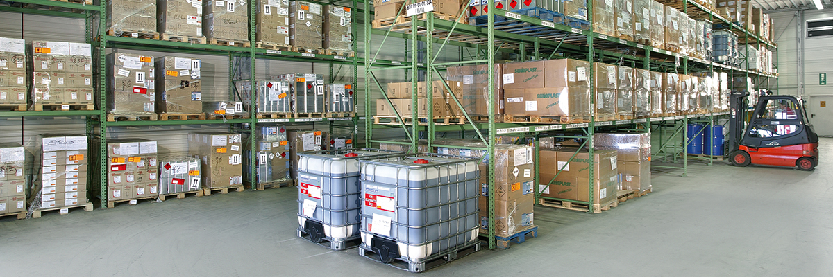 Warehouse for adhesives