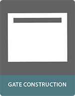 Composite panels for gate construction