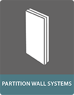 Composite panels for partition walls